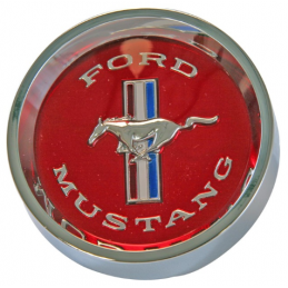 Alloy rim red hub cap 65-66