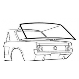 Coupe Rear Window Seal 64-68