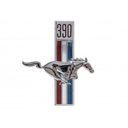 Running horse fender emblem...