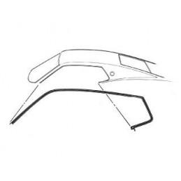 Roof rail seal, Fastback 69-70