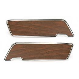 Deluxe Türverkleidungen (mit Walnusseinsätzen, Paar) 69-70