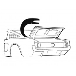 Trunk seal, Fastback 64-66