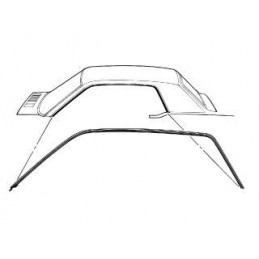 Coupe roof rail seals 67-68