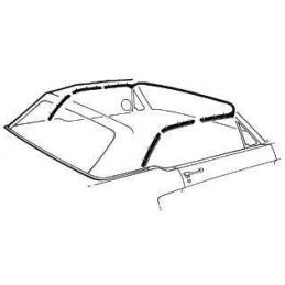 Convertible top seal kit 64-68