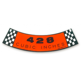 Air cleaner decal 428 4V, 69