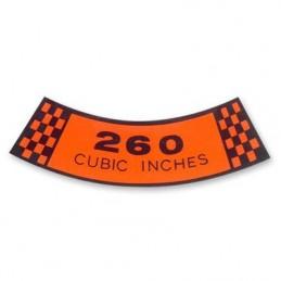 Air cleaner decal 260 CID 64