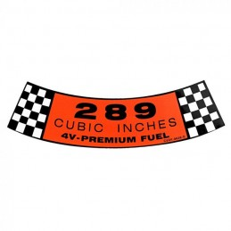 4V Air cleaner decal 289,...