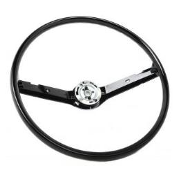 Black steering wheel...